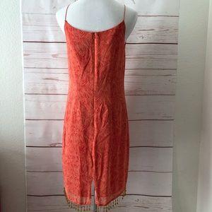 Positive Attitude Dresses - POSITIVE ATTITUDE beaded fringe SUNDRESS 100% SILK